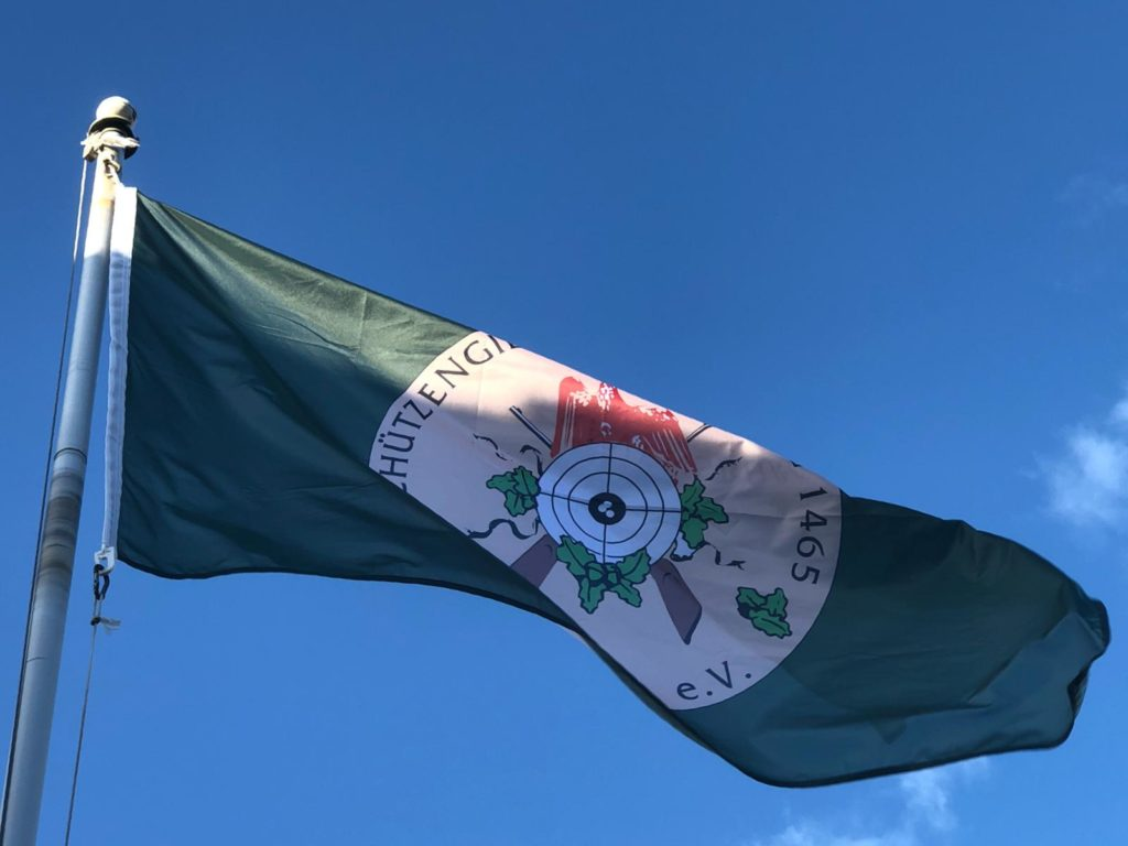 Flagge der Schützengilde Ravensburg 1465